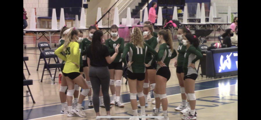 Norwalk+Volleyball+getting+ready+to+take+the+court+against+Wilton.