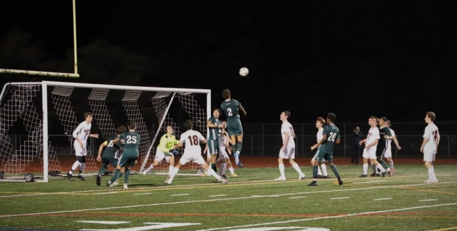 Brandon Rodriguez going in for a header
