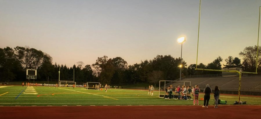 Bears practice under the lights at Testa Field