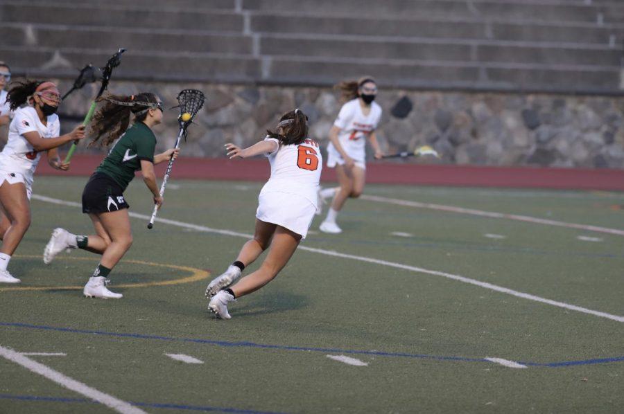 Kaylie Karidis going to goal