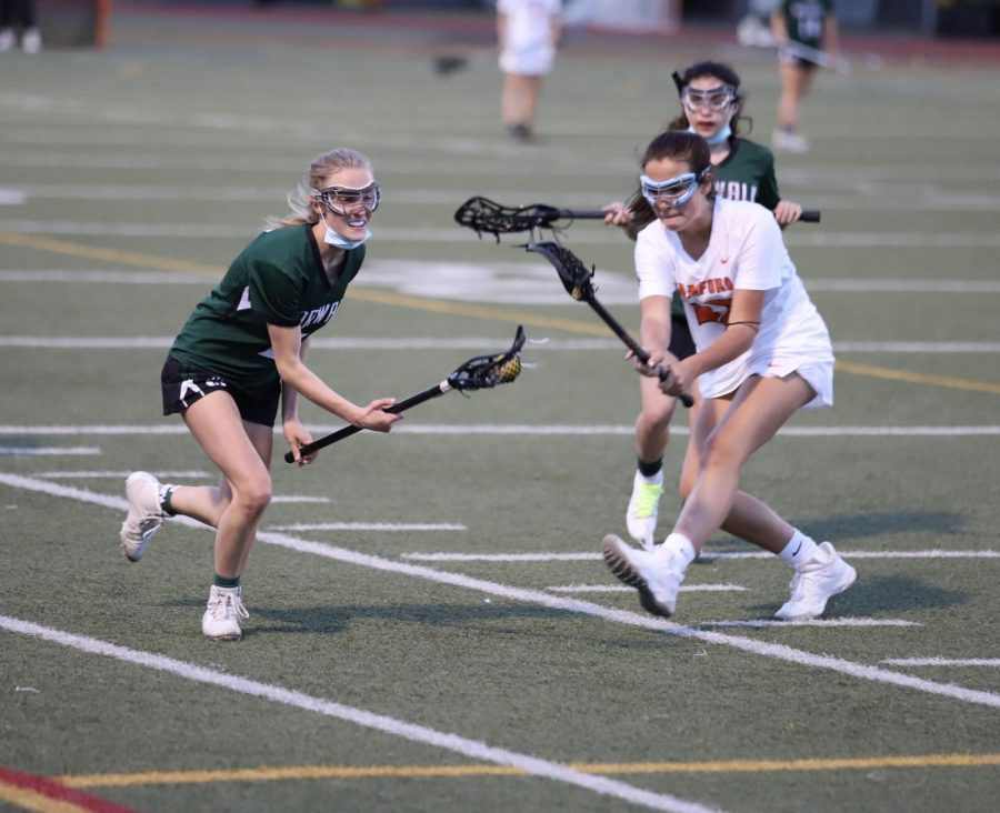 Sara Spielman coming up from a ground ball
