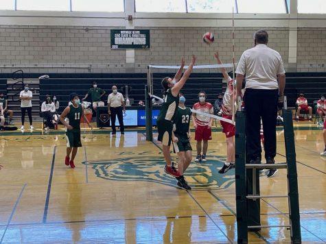 Boys Volleyball taking on Greenwich high school.